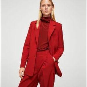 Mango red suit jacket size 4/pants sz 6. Worn once